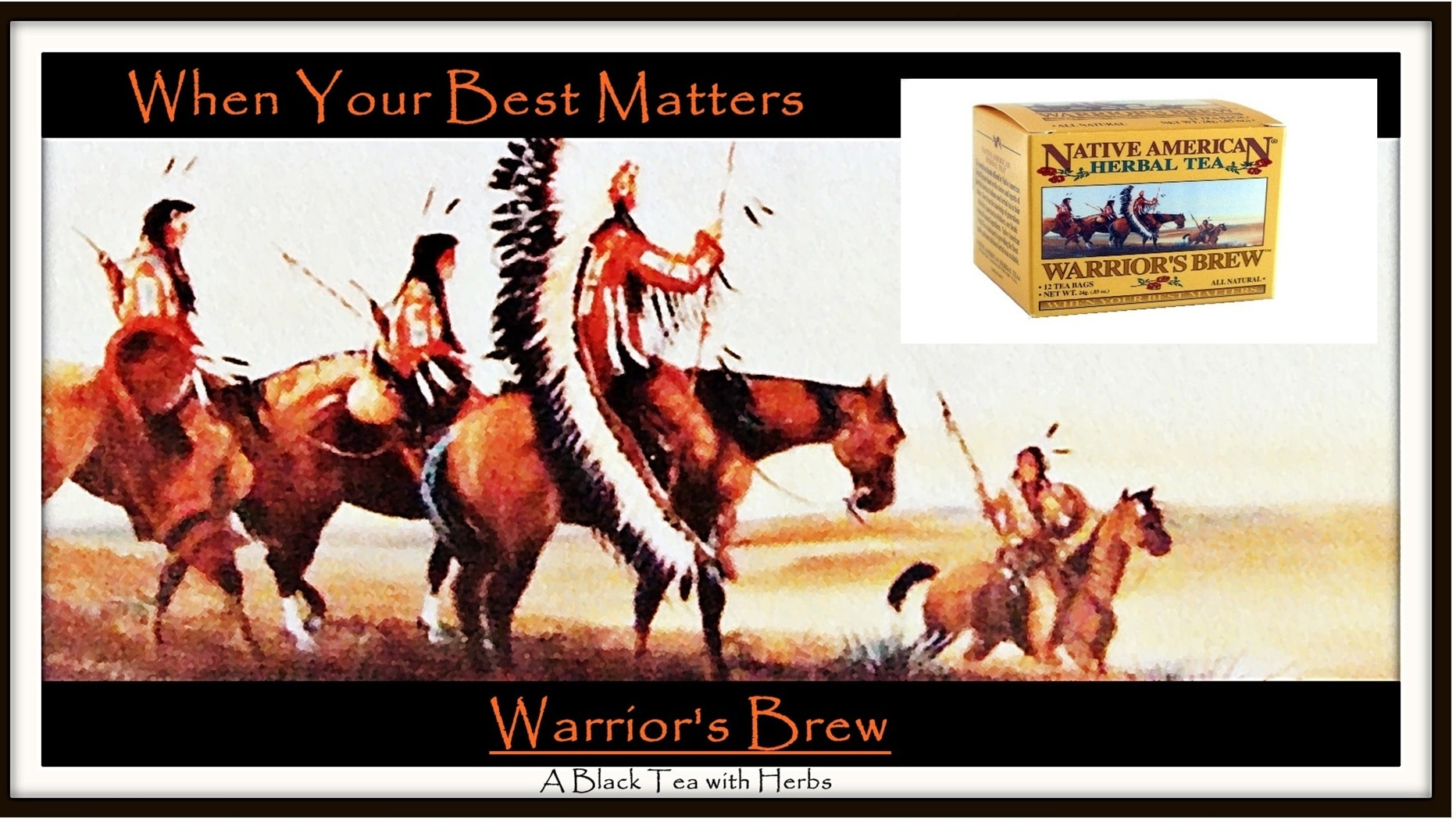 Drink Warrior's Brew for Natural Energy - Native American